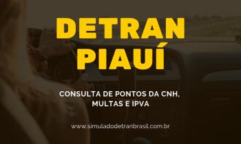 Detran PI – Piauí – Consulta de Pontos da CNH, Multas e IPVA