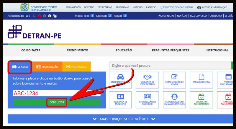 Consulta Multas Detran Pernambuco