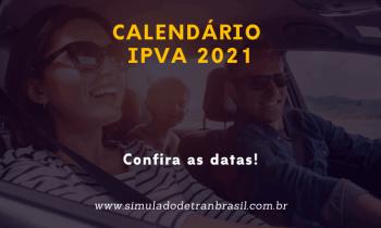 Calendário de pagamento do IPVA 2021